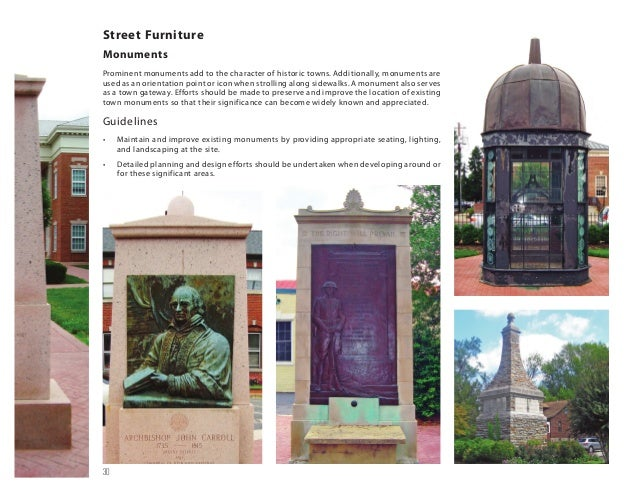 Street Furniture Design Guidelines town of upper marlboro design guidelines