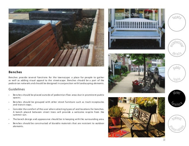 Furniture Design Guidelines wonderful street furniture design guidelines and