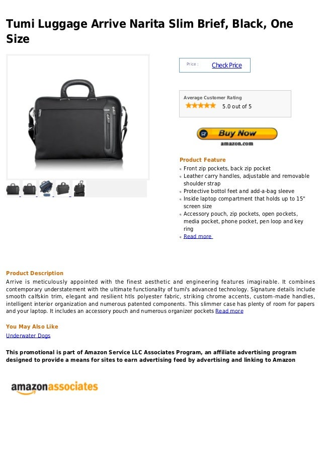 Tumi Luggage Arrive Narita Slim Brief, Black, OneSize                                                                     ...