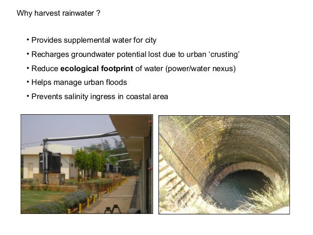 Water Management In India Role Of Rainwater Harvesting