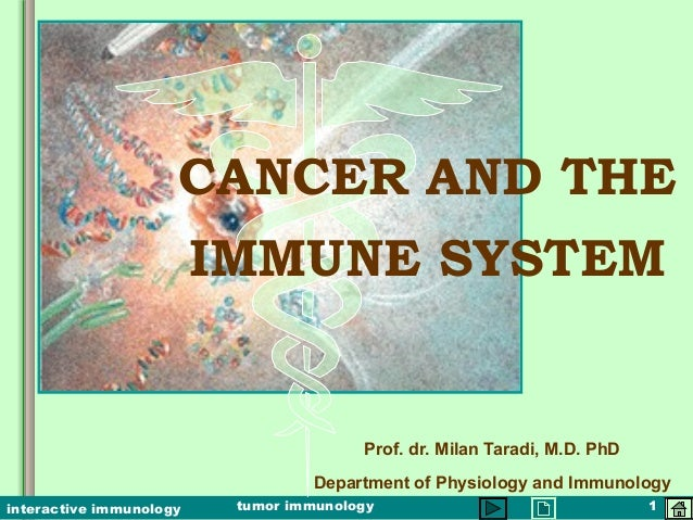 tumor immunology 1interactive immunology CANCER AND THE IMMUNE SYSTEM Prof. dr. Milan Taradi, M.D. PhD Department of Physi...