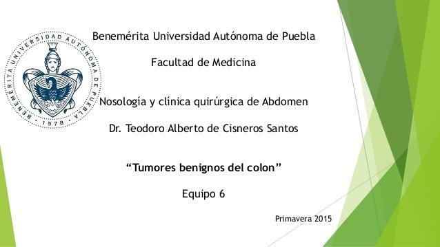 Benemérita Universidad Autónoma de Puebla Facultad de Medicina Nosología y clínica quirúrgica de Abdomen Dr. Teodoro Alber...