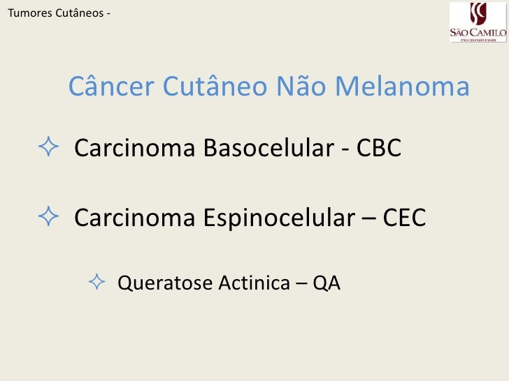 Tumores Cutâneos Slide 3