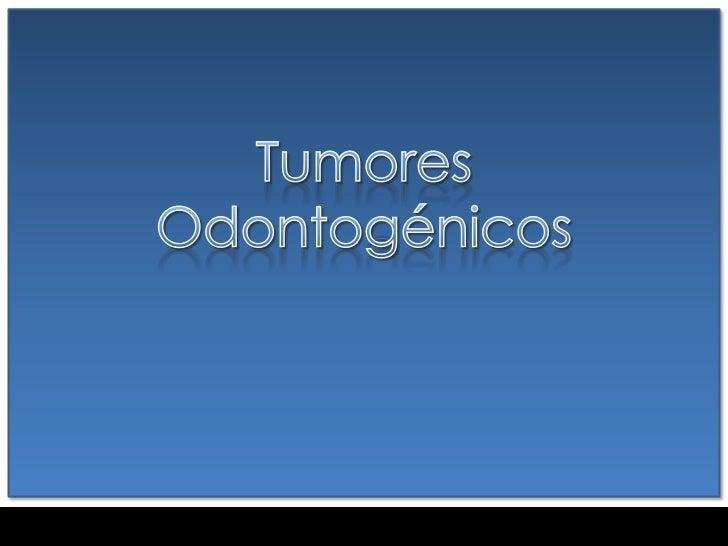DEFINICIÓNLos TO conforman un grupo heterogéneode lesiones exclusivas de los huesosmaxilares constituidos por proliferacio...