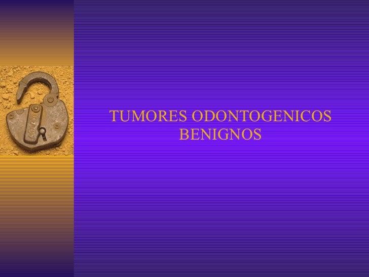 TUMORES ODONTOGENICOS BENIGNOS