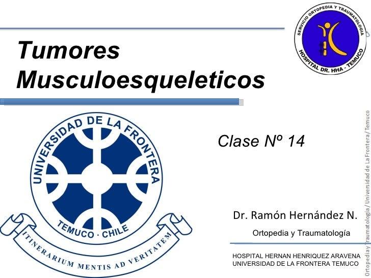 Dr. Ramón Hernández N. HOSPITAL HERNAN HENRIQUEZ ARAVENA UNIVERSIDAD DE LA FRONTERA TEMUCO Ortopedia y Traumatología Clase...