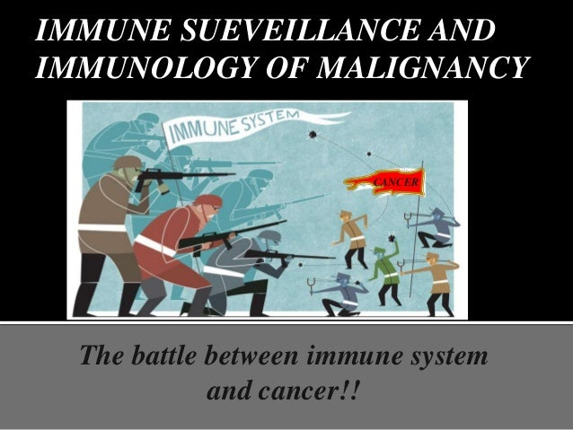 IMMUNE SUEVEILLANCE AND IMMUNOLOGY OF MALIGNANCY The battle between immune system and cancer!! CANCER