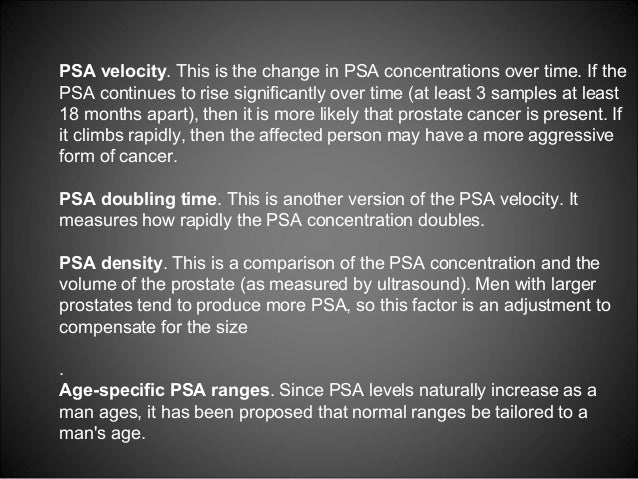Does a man's PSA level vary by age?
