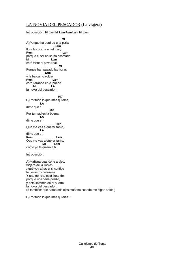 d4488376a Canciones de Tuna 39  40. LA NOVIA ...