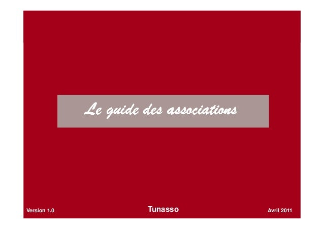 Le guide des associationsLe guide des associationsLe guide des associationsLe guide des associations Avril 2011Version 1.0...