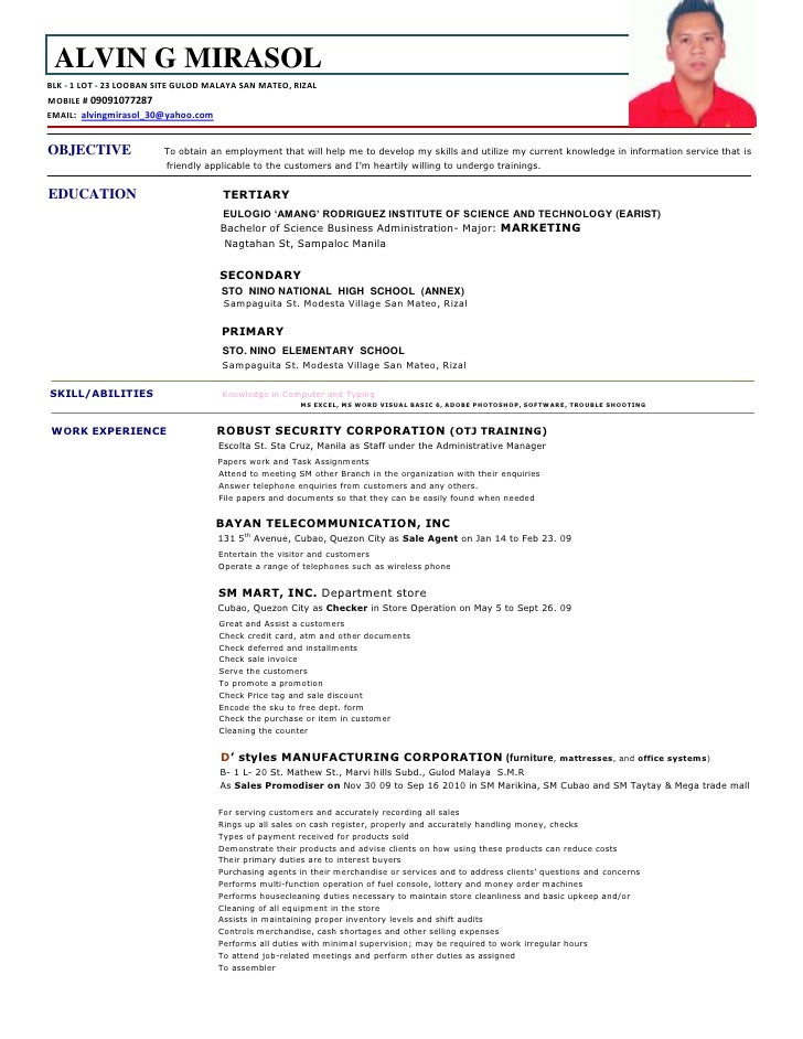 tunay na resume certified nursing assistant resume objective cna - Job Description Sample Resume