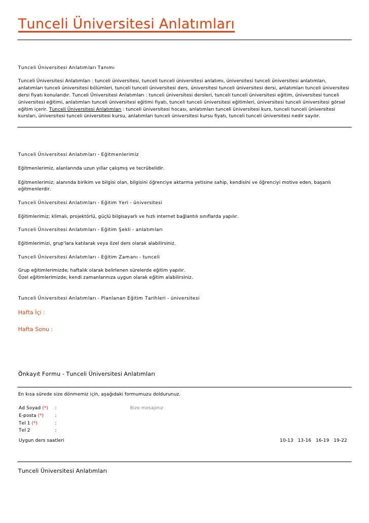 Tunceli Üniversitesi AnlatımlarıTunceli Üniversitesi Anlatımları TanımıTunceli Üniversitesi Anlatımları : tunceli üniversi...