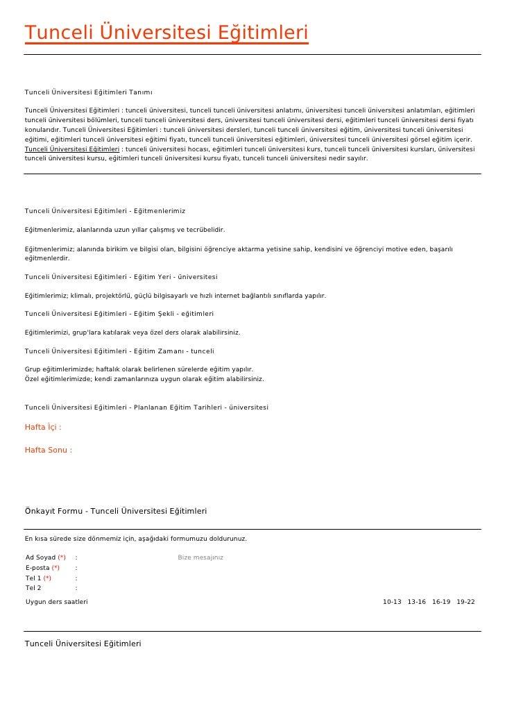Tunceli Üniversitesi EğitimleriTunceli Üniversitesi Eğitimleri TanımıTunceli Üniversitesi Eğitimleri : tunceli üniversites...