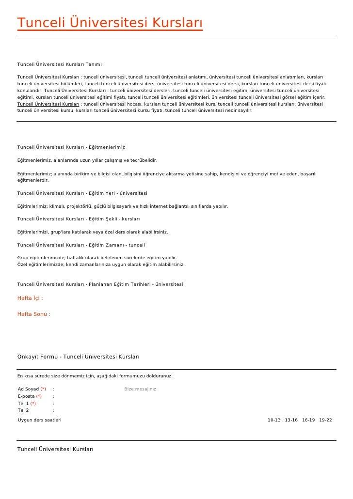 Tunceli Üniversitesi KurslarıTunceli Üniversitesi Kursları TanımıTunceli Üniversitesi Kursları : tunceli üniversitesi, tun...