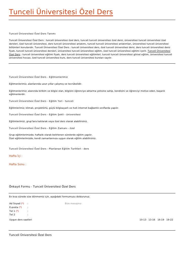 Tunceli Üniversitesi Özel DersTunceli Üniversitesi Özel Ders TanımıTunceli Üniversitesi Özel Ders : tunceli üniversitesi ö...