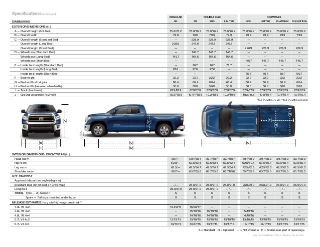 Toyota Tundra Truck Bed Dimensions