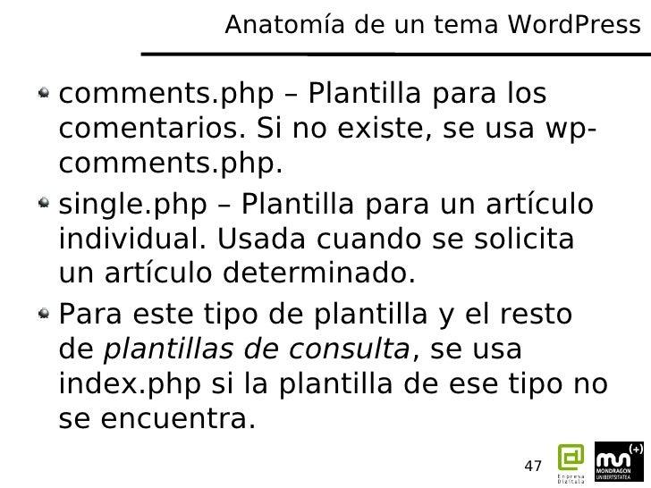 Tunea tu wordpress