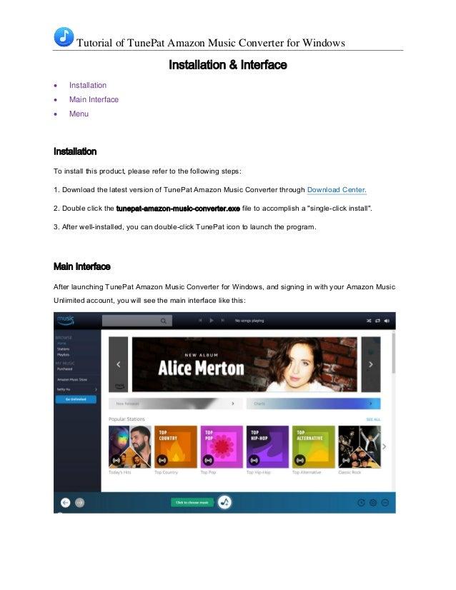 Tutorial of TunePat Amazon Music Converter