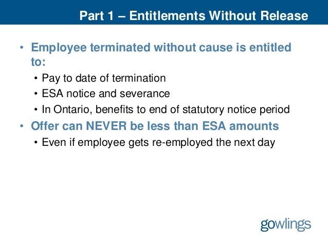 14 part 1 entitlements without release employee terminated