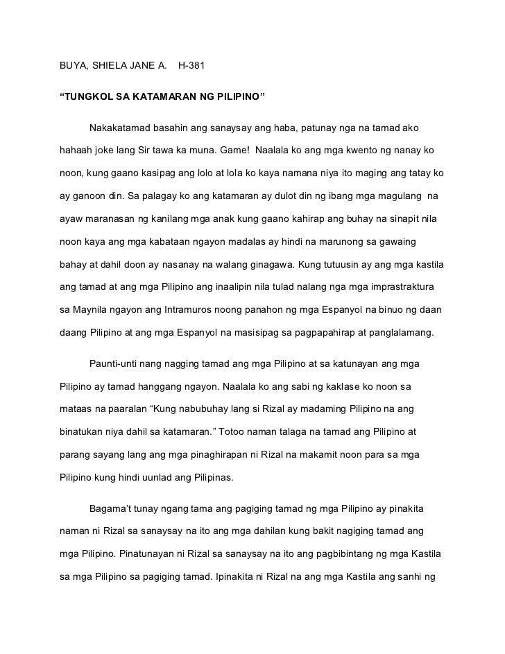 tagalog essay tungkol sa pamilya Examples of filipino essays ito na lamang po ang inaasahan ko upang maiahon ko ang aking pamilya sa kahirapannawa'y matulungan po ako ng taong makakabasa nito.
