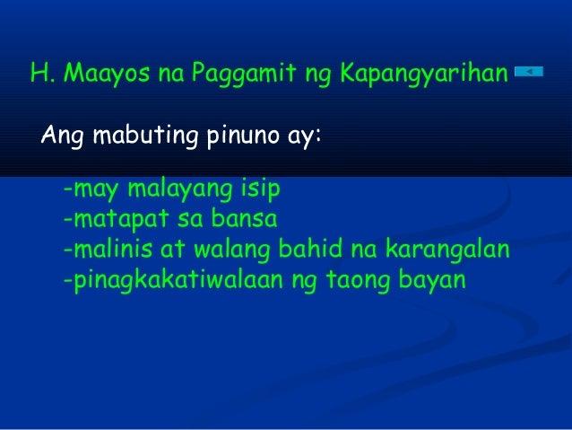 """pagiging mabuting mamamayan Nararapat lamang na ating pahalagahan ang mga sakripisyo ng ating mga  bayani sa pamamagitan ng pagiging mabuting mamamayan,"""" he."""