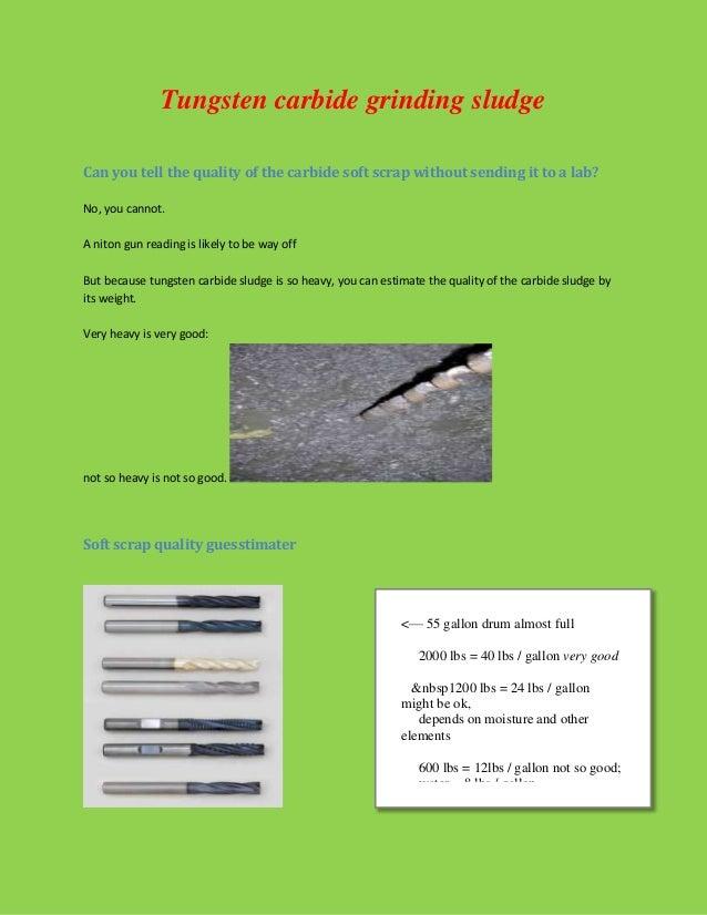 Tungsten carbide recycling
