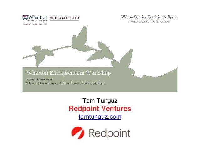 Tom Tunguz Redpoint Ventures tomtunguz.com