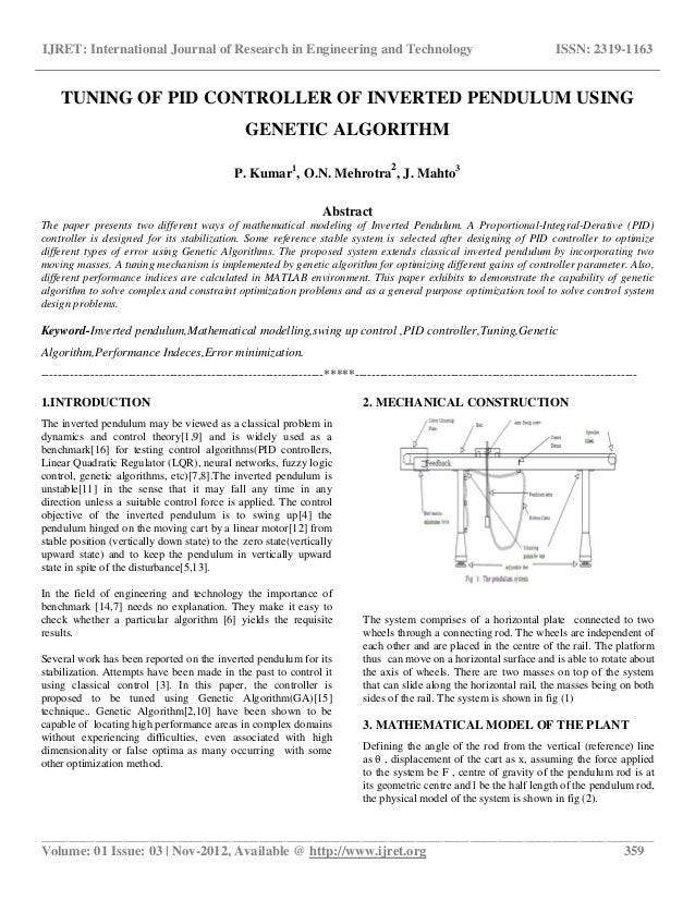 fuzzy control of inverted pendulum based This paper studies the use of fuzzy control method to study the stability control problem of a triple inverted pendulum system by the linear model of the system, the feedback weight matrix of the lqr optimal control and the feedback parameters of the linear optimal control are designed to determine the parameters of the fuzzy controller.