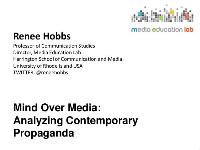 Renee Hobbs Professor of Communication Studies Director, Media Education Lab Harrington School of Communication and Media ...