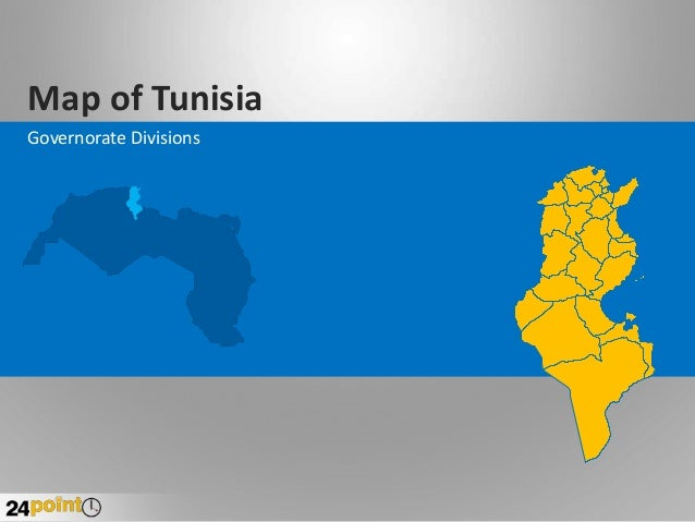 Map of Tunisia Governorate Divisions