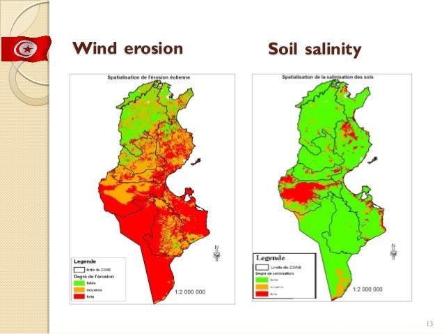 Tunisia combat desertification and land degradation for Soil salinization