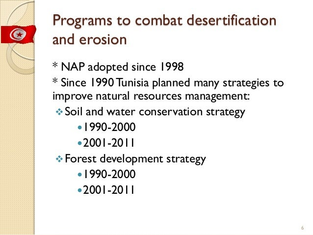 Tunisia Conservation Of Natural Resources