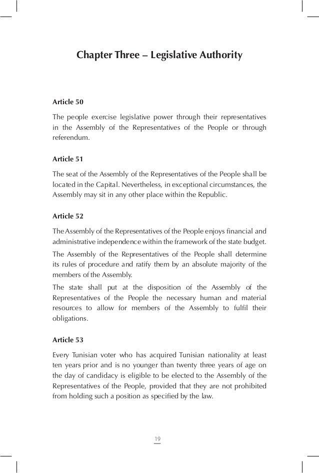 Constitution Tunisienne Traduction Pnud Non Officielle En
