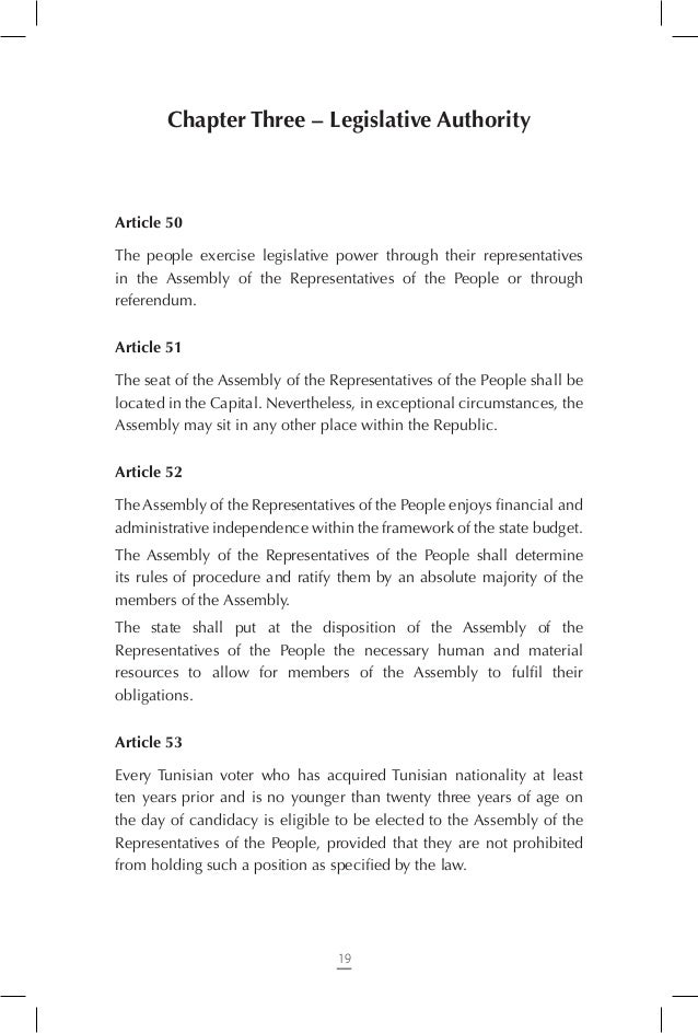 Article 65 Laws relating to the following areas are deemed ordinary laws: - Creation of public institutions and facilitie...