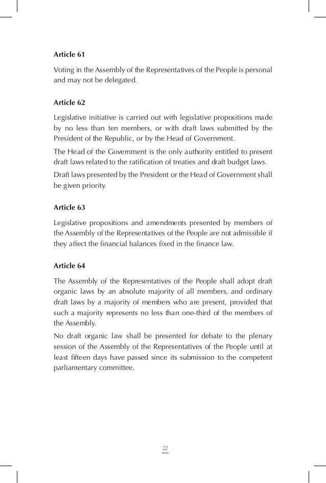 Article 69 If a member of the Assembly of the Representatives of the People asserts criminal immunity in writing, he/she m...
