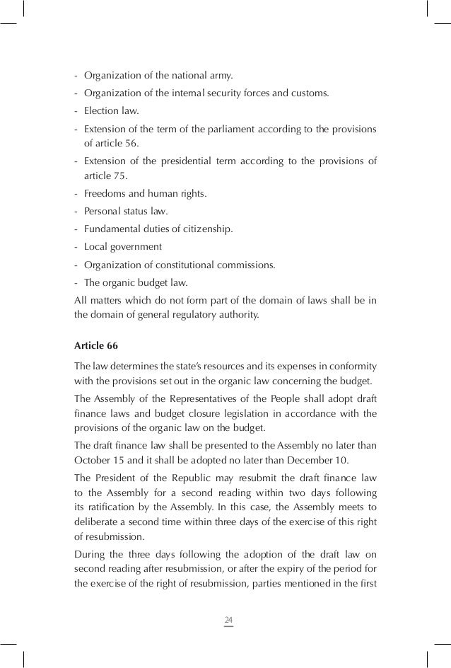 Article 75 The President of the Republic is elected for a five-year term during the last sixty day period of the president...