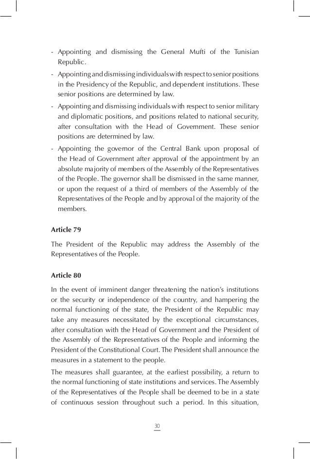 Article 86 The interim President of the Republic, during the temporary or permanent vacancy of the office, exercises the p...