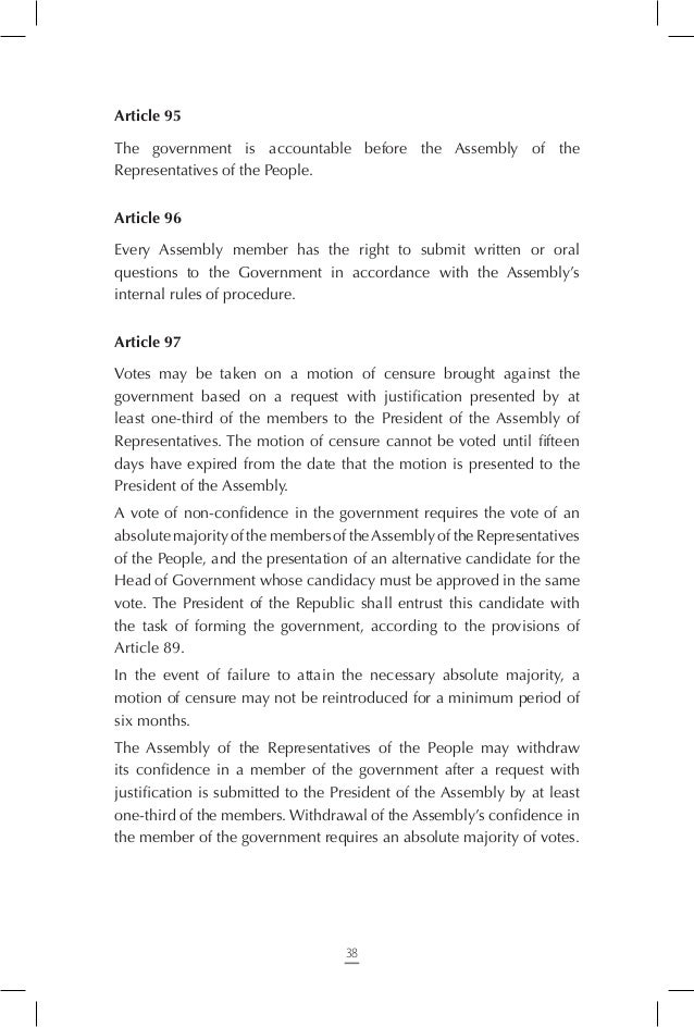 Section One – Judiciary, and Administrative and Financial Judiciary Article 106 Judges shall be nominated by the President...