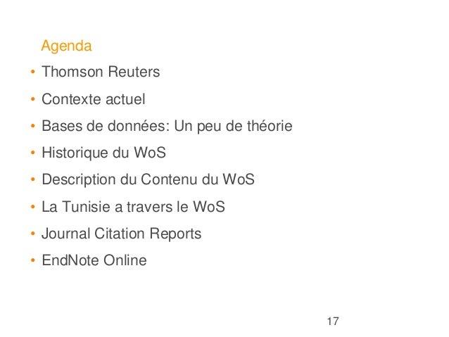 Web of Science : Là où commencent les découvertes - Tunisia workshop Slide 2