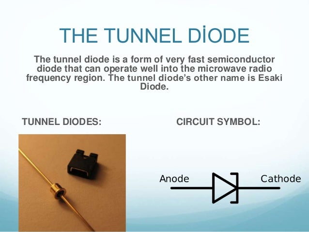 tunnel diode What is a tunnel diode see if you know by trying to answer the multiple-choice questions on this interactive online quiz you can also print out.