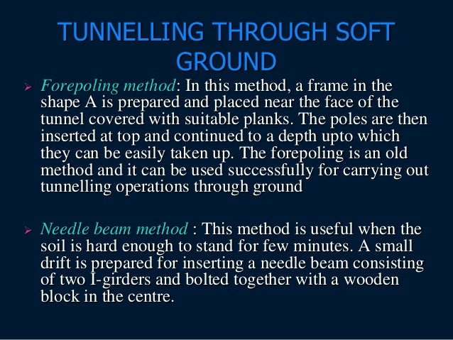 Forepoling method of tunneling
