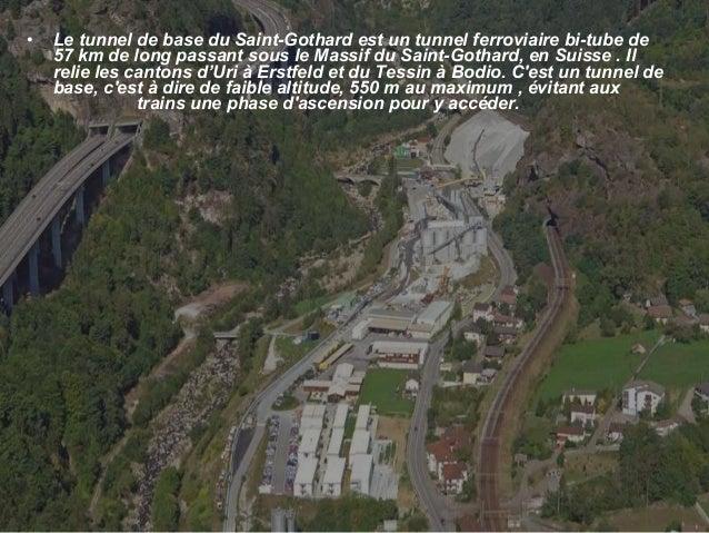 Tunnel ferroviaire Saint Gothard Slide 2