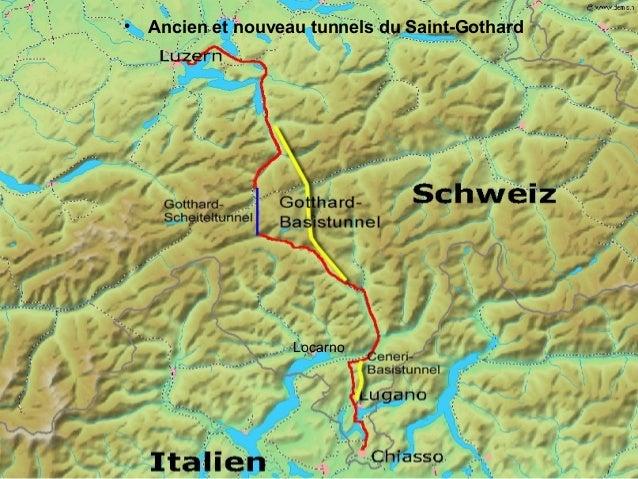 Tunnel ferroviaire Saint Gothard Slide 3