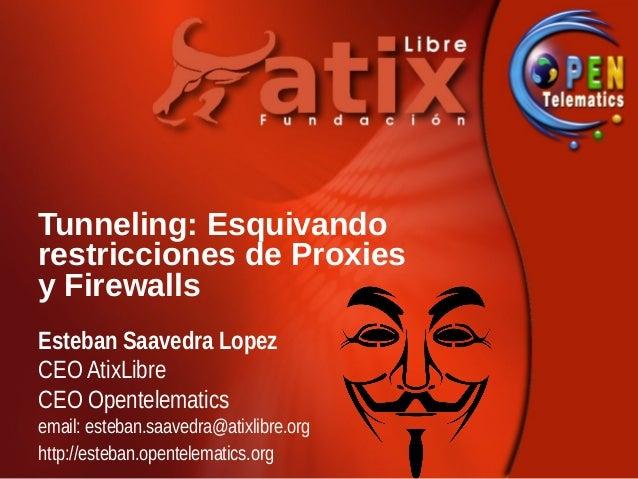 Tunneling: Esquivandorestricciones de Proxiesy FirewallsEsteban Saavedra LopezCEO AtixLibreCEO Opentelematicsemail: esteba...
