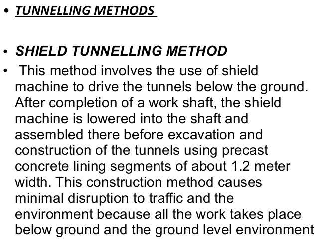 Tunnels ppt slideshare - 웹