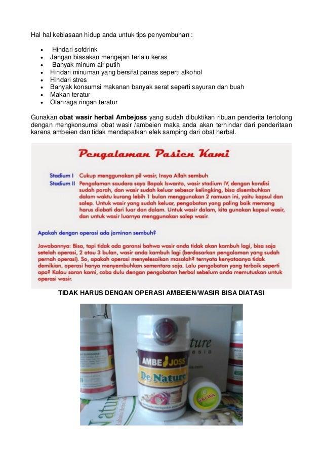 Tuntaskan wasir dengan obat herbal wasir tanpa operasi