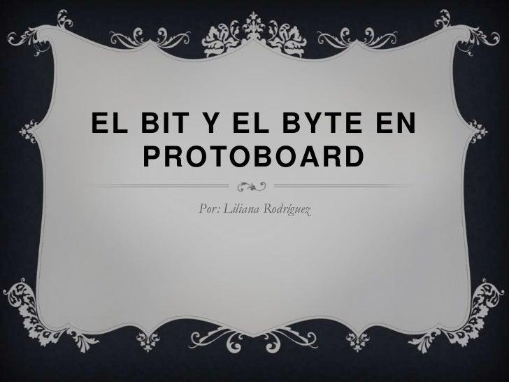EL BIT Y EL BYTE EN   PROTOBOARD      Por: Liliana Rodríguez