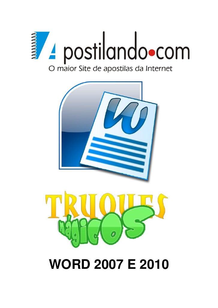 WORD 2007 E 2010