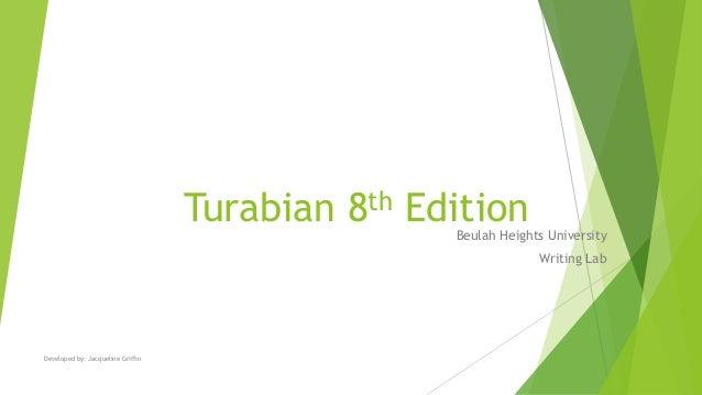turabian 8th edition ppt rh slideshare net Turabian Header Turabian Cover Page Template