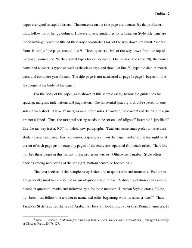 turabian example paper footnotes sample paper austin peay stat 2 turbian 2 paper
